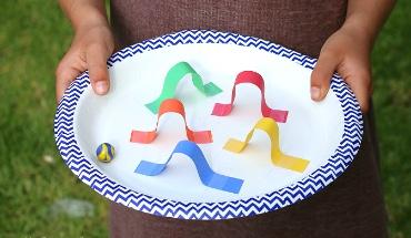 5 knutselideetjes met papieren bordjes