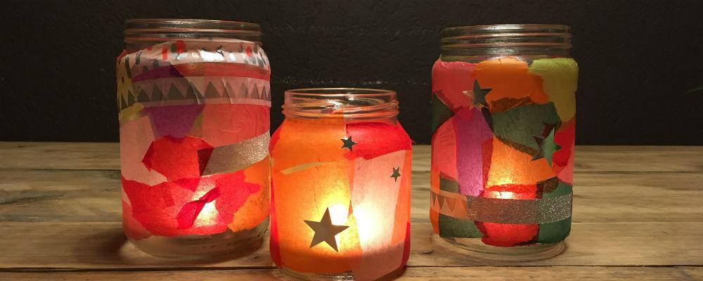 Iets Nieuws Knutselen: 5 keer glazen potjes versieren | Opa 'n oma @IH97
