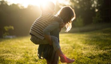 Geluksgevoel veroorzaakt door kleinkinderen