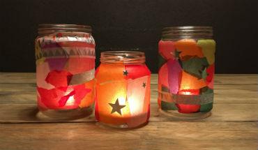 Knutselen: 5 keer glazen potjes versieren