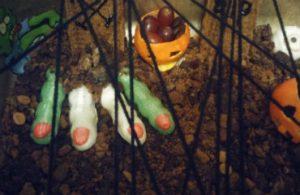 eetbaar kerkhof Halloween traktatie