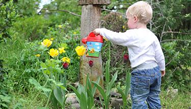 kindvriendelijke tuin uitg